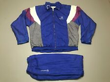 Vintage SERGIO TACCHINI 2-Piece Set Multi-Color Windbreaker Jacket Size 42 X 36
