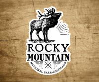 "Rocky Mountain National Park 4"" X 2.6"" Sticker Decal Colorado Vinyl"