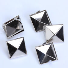 100x Pyramid Studs Spots Spikes Punk For Leather DIT Craft 12mm