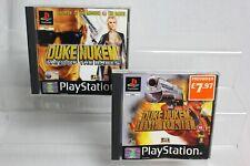Duke Nukem paquete tierra de Babes tiempo para matar PS1 video juego PAL Playstation One