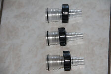 Three Original Clear Hose Connectors for Jebao pond filters and Uv sterilizers