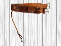 USED SADDLE GIRTH BARREL RANCH TRAIL ROPING TOOLED LEATHER WESTERN BACK CINCH
