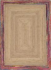 "4x6""Feet Indian Reversible Braided Handwoven Rectangle Jute Handmade Area Rug"