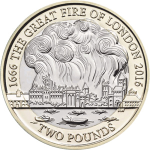 The Great Fire Of London £2 Two Pound Coin 2016 FREE DELIVERY