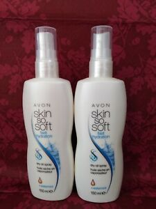 AVON Skin so Soft fast & hydration dry oil spray+watermint 150ml x2 Discontinued