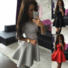 Unbranded Round Neck Party 3/4 Sleeve Dresses for Women