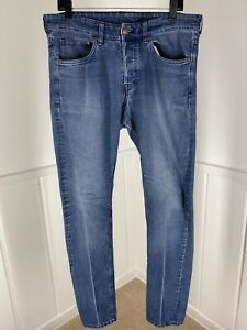 Men's H&M &Denim Skinny Low Waist Blue Jeans - 34x34