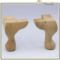 Piedi gambe in legno per restauro vetrina pouf sgabello ricambi mobili antichi .