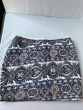 LF Stores Millau quilted mult-color Mini Skirt Size Small back zipper New