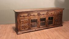 Rustic Solid Wood 83 inch TV Stand / Multi Purpose Console / Sideboard / Cabinet