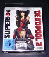 Deadpool 2 Super Duper Cut 4K Ultra HD Blu Ray+Blu Ray Faster Shipping New