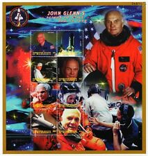 Astronaut JOHN GLENN's Return to Space Stamp Sheet (Now 1998/Shuttle Discovery)