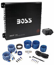 Boss Audio R3004 1200 Watt 4-Channel Car Audio Stereo Amplifier+Remote+Amp Kit