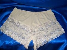 * OFFEN Hotpanty panty - Champagner creme - liebes intim Slip Spitze  46 - 48