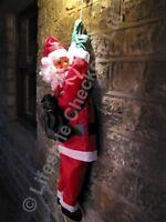 SOR90 90cm Santa Climbing on Rope Outdoor Christmas Garden Decoration