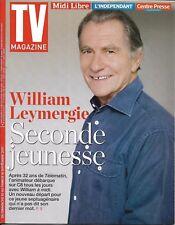 TV MAGAZINE N°22732 10/09/2017  WILLIAM LEYMERGIE/ SOTTO/ DELAHOUSSE/ J.LAMBERT