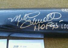 MIKE SCHMIDT Autographed Louisville Slugger Black Bat COA