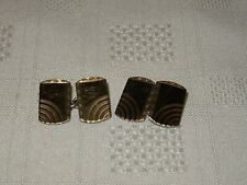 Vintage 9ct Gold on Silver Cufflinks Stamped - 9ct on Silver