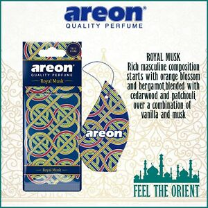 10x ROYAL MUSK Areon Mon ORIENT Car & Home Long Lasting Air Freshener Auto NEW