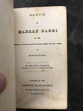 1835 Memoir of Harlan Page ~ William Hallock 1st EDITION POWER OF PRAYER Faith