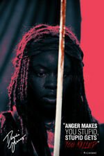 DANAI GURIRA 'MICHONNE' QUOTE POSTER PRE SIGNED - 12X8 INCH (A4) GETS YOU KILLED