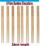 IKEA 8 Pairs Bamboo Chopsticks Asian Japanese Korean Noodles Chopstick Reusable