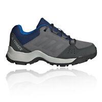 adidas Boys Terrex HyperHiker Low LEA Walking Shoes - Grey Sports Outdoors