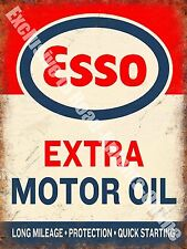 Vintage Garage 114, Esso Extra Motor Oil Can, Petrol, Old, Medium Metal/Tin Sign