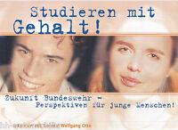 Bundeswehr Studieren mit Gehalt Prospekt 2003 Interview m. General Wolfgang Otto