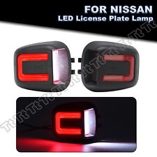 White Amp Red Led License Plate Light Lamp For Nissan Frontier Armada Xterra Titan