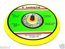 "6"" HOOK & LOOP SANDING PAD FOR DA SANDER PALM ORBITAL DUAL ACTION SANDER RANDOM"