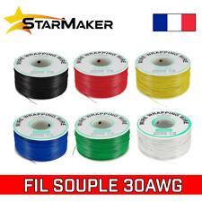 Fil électrique 0,05mm² 30 AWG 0,25mm Câble souple cuivre AWG30 - 10m