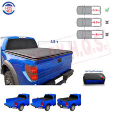 Black 5.5' 5.5 Ft Soft Roll Up Truck Bed Tonneau Cover For 2004-2018 Ford F-150