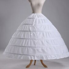 6 Hoops Petticoats Bustle Ball Gown Wedding Dress Underskirt Bridal Crinoline