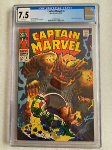 Captain Marvel #6 CGC 7.5 1968 White Pages! Letter from Tony Isabella
