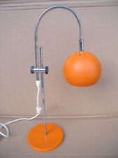 70er Kugellampe Tischlampe 70s Pop Art Space Age Kugel Orange Retro Bogenlampe