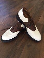 Callaway XTT Chev Tour Saddle Golf Shoes Mens size 10 White Brown Style M515-15