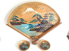 Vintage RETRO Hand Painted Chinese Tea Ceremony Tray Story Picture PROP