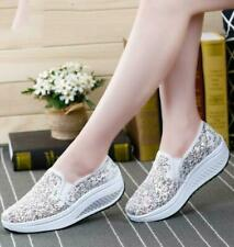 Summer lace mesh Women's breathable shoes casual Sequins Loafers Fashion Womens