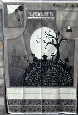 """1 Cute Halloween """"Come Sit A Spell Apron"""" Quilting Sewing Fabric Panel"""
