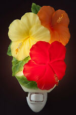 """Hibiscus Trio Flower Night Light 6"""""""