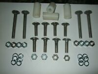 Replacement Bolt Set with Spacers for Chrome Bumpers. Fits Mk1/MK2 Escort & Many