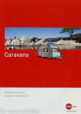 Prospekt Bürstner Caravans Technische Daten 1/10 Wohnwagen Broschüre 2010 Premio
