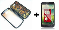 LG Optimus Exceed 2 VS450PP Hybrid Phone Case+Screen Protector - Camouflage
