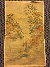 Vintage Vietnamese Rice Paper Forest Mountain Scene Art Vietnam Authentic