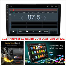 """10.1""""HD 2Din Quad-Core 2+32G Android 6.0 WIFI 4G Car Stereo Radio GPS Navigation"""