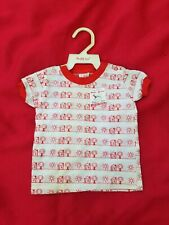 Vintag 00004000 e 1970s Buster Brown Infant/baby Jersey Top Naive Print 6-9 months