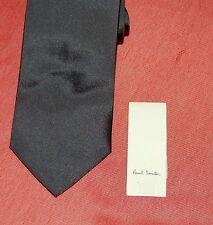 "NWT PAUL SMITH mens 100% silk dark grey shin tie 56"" $175 ITALY"