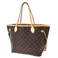 Auth LOUIS VUITTON Neverfull MM Shoulder Bag Monogram Leather BN M40995 604SB410