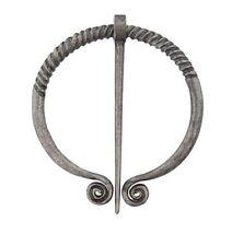 "Silvery 2-3/8"" Spiral End Celtic Penannular Brooch Cloak w/ 2-5/8"" pin (Pn1)"